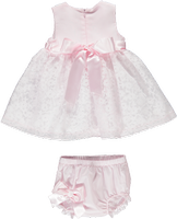 Piccola Speranza Pink And White Dress With Matching Jam Pants
